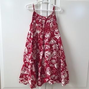 GAP red and white dress